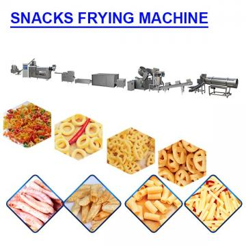 80kw Stainless Steel snacks frying machine with 150 kg/h Capacity